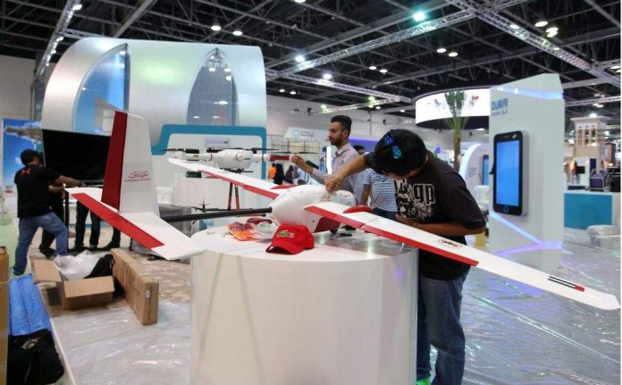 Exhibitors give the final touches to their pavilions as Gitex Technology Week opens in Dubai on October 16. (Photo by Leslie Pableo)