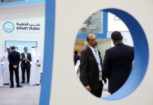 Smart Dubai's pavilion at Gitex Technology Week. Pawan Singh / The National