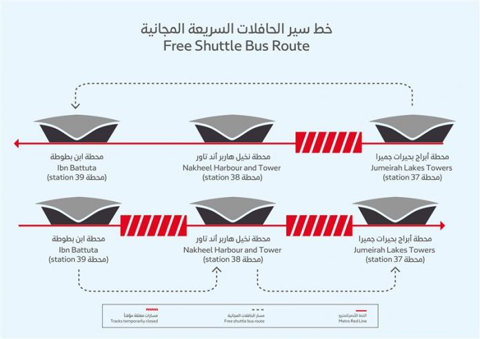 RTA launches free shuttle bus service to cover metro closure