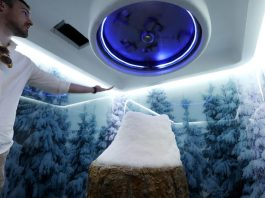 Snow 365 days a year in Dubai inside the snow room at the Sweden Beach Palace. Chris Whiteoak / The National