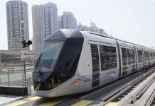 Dubai tram lifts 20 m riders in 4 years of operation