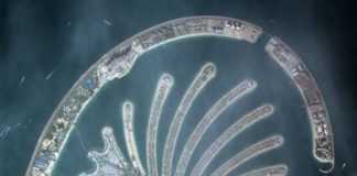 Palm Jumeirah is KhalifaSat's first image from space