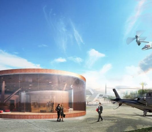 The new rotorcraft terminal will combine a helipad, a showroom and lounge areas in a single city-based heliport and will support the development of a network of point-to-point connections for both urban transfers and connections between cities.